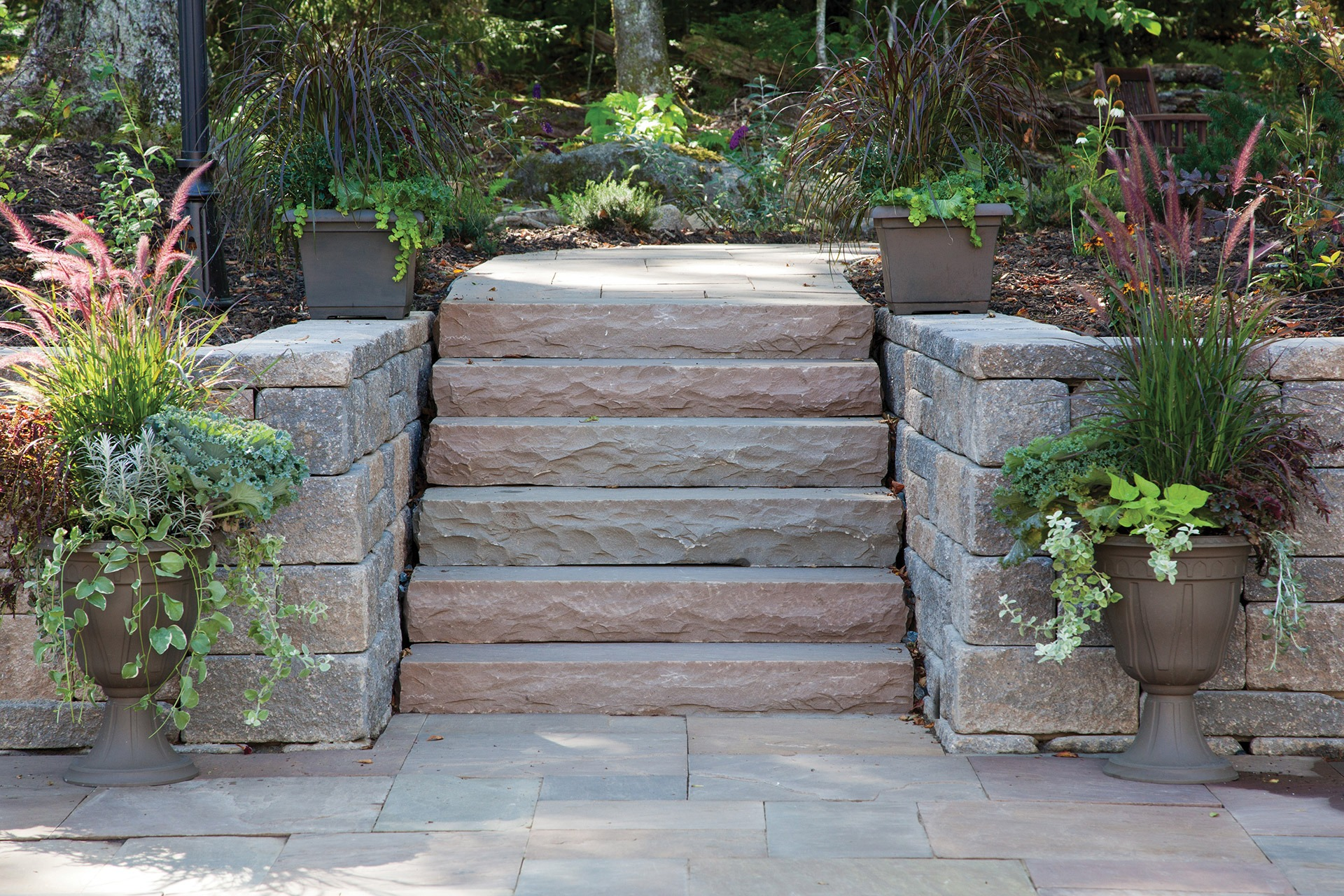 Natural Stone Steps Formal Stone Steps Shaw Brick