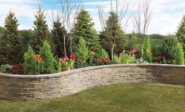 Wall Stone Ledgewall Garden Walls Concrete Shaw Brick