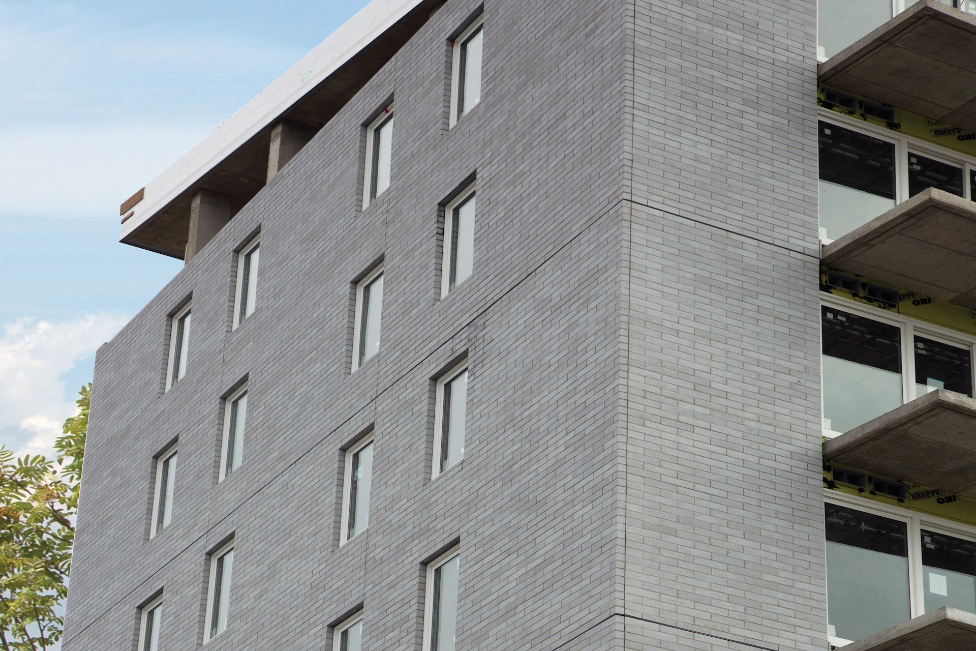 Building using Shaw Brick's Linear Smooth Concrete Block in Steel Grey