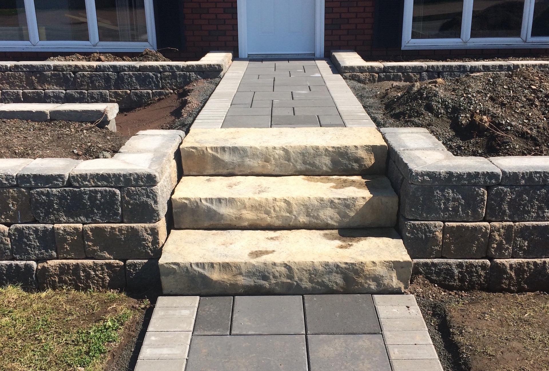 Shaw Brick Landscape Steps